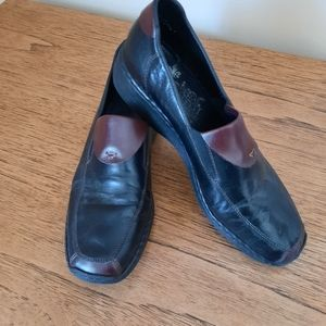 Leather Rieker loafers shoes